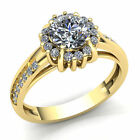 Natural 3ct Round Cut Diamond Ladies For Her Solitaire Engagement Ring 18K Gold