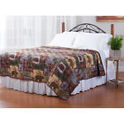 DEER MOOSE BEAR MOUNTAIN LODGE CABIN BEDROOM QUILT TWIN FULL QUEEN KING SIZE NEW