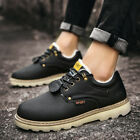 Winter Warm Sports Sneakers Ankle Boots Men Formal Casual Leather Shoes
