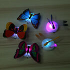 1/5pcs Colorful Changing Butterfly LED Night Light Lamp Party Wall Decor Toys