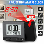Dimmable Digital LED Projector Projection Snooze Alarm Clock FM Radio Timer USB