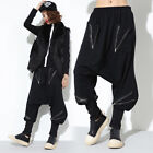 TREND PUNK VISUAL COTTON LEG 57730 ELASTIC PANTS BLACK