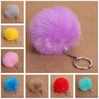 Rabbit Fur Ball Car Key Ring  Handbag Pendant  Charm fashion KeyChains Pompon