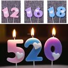 Number Moulded Happy Birthday Party Cake Candle Candles with Holders EA