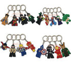 Lego Marvel Hero Avengers PVC Plastic Keyring Key Chain Xmas Gift Party Favor