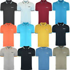 Lambretta Polo Shirt Triple Tipped Collar Mens T-Shirt Cotton SS1650 UKS-4XL
