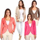 UK Women Slim Fit Casual Suit Blazer office Jacket Coat Outwear One Button Tops