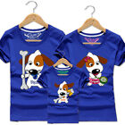 Family fitted Casual Short sleeve Couple lovers T-Shirt Cute dogs love bones