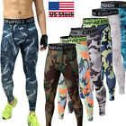 Men's Skinny Compression Base Layer Pants Tights Workout Jogger Camo Tracksuit