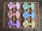 """Many Assorted Sets Of Six/ 2"""" Grosgrain Bow Hair Clips!"""