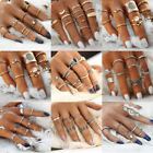 12pcs Silver/Gold Boho Stack Plain Above Knuckle Ring Midi Finger Rings Set Gift image