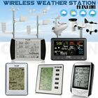 Multi Wireless Weather Station Forecast  Outdoor Forecast LCD Display