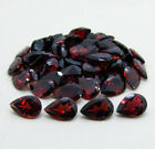 8mmx6mm & 9mmx6mm[10/25/75/100Pc] Natural Red Garnet Pear Cut Top Color Gems