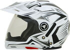 Dual sport motorcycle short riders - AFX ADULT FX-55 Dual Sport White Multi Motorcycle Helmet XS-2XL