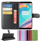 PU Leather Wallet Card Slot Flip Case Cover Skin For OnePlus 5T Cell Phone