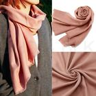 Womens Cashmere Feel Scarf Long Warm Scarves Wrap Solid lady Winter Shawl Stole