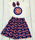 Chicago Cubs Baby or Toddler Girl   Chicago Cubs top and skirt  