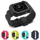 New Silicone Sports Band With Case For Apple Watch 1/2/3 Series Size 38/42MM