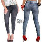 New Fashion Women's Sexy Close-fitting Imitated Denim Jean Leggings TXSP