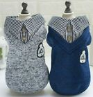 Dog Puppy Sweater Jacket - Small Breeds - Luxurious Collection - Blue or Grey