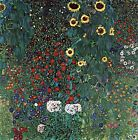 "GUSTAV KLIMT ""Farm Garden with Sunflowers"" canvas or poster print up to 24x24"""