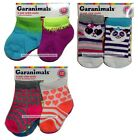 GARANIMALS 6 Pairs FOR GIRLS Infant/Toddler ANKLE+CREW SOCKS New *YOU CHOOSE*