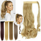 100% Real New Clip In Human Hair Extension Pony Wrap on Ponytail Hairpiece R81