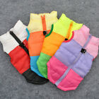 Puppy Dog Cat Pet Warm Clothes Vest Harness Padded Nylon Coat Jacket Apparel S-L