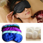 1PC Soft Pure Silk Sleeping Sleep Eye Mask Padded Shade Cover Travel Relax Aid