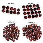 5-6mm Lot 10,20,50,100pcs Round Cut Accent Stone Natural Red MOZAMBIQUE GARNET