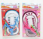NEW Children's Kids Create Colour & Learn To Tie Your Shoe Laces Lace Kit Set