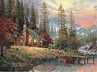 A Peaceful Retreat by Thomas Kinkade Tapestry Throw