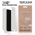 New 360 FULL COVERAGE Front Back LCD Film Screen Protector for Apple/Samsung