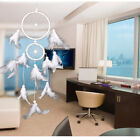 MS6080 Handmade Feather Dream Catcher 2-Circle Wind Chime 6 Colors Home Deco B
