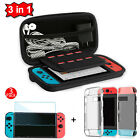 For Nintendo Switch Travel Carrying Case Bag+Shell Cover+Clear Screen Protector