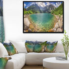 Designart 'Tatra Lake at Dawn Panorama' Landscape Framed Canvas Art Print