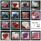 Hearts Love Valentine  Italian Charms Classic SZ 9 mm + Nomination Link