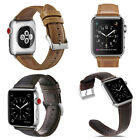 Vintage Genuine Leather Wrist Band Strap For Apple Watch iWatch 2018 NEW 38/42mm