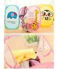 Foldable Cute Net Clothing Laundry Basket Washing Clothes Travel Storage Bag