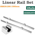 Kyпить 2Pcs SBR20 L200-1500mm Linear Rail Shaft Rod & 4Pcs SBR20UU Block Bearing на еВаy.соm