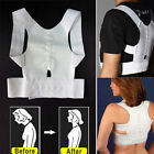 Adjustable Magnet Posture Back Shoulder Corrector Support Brace Belt Therapy New