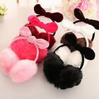 Warm Winter Imitation Rabbit Fur Earmuffs Velvet Rabbit Ear Bowknot Earmuff TOP