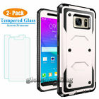 For Samsung Galaxy Note 5 Shockproof Protective Case Cover+Tempered Glass Screen