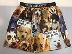 Brief Insanity Men's Boxer Shorts Dogs Wieners Nuts Dog Design Boxers Underwear