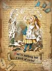 ALICE IN WONDERLAND :PACK OF CARDS  : METAL SIGN: 3 SIZES TO CHOOSE FROM