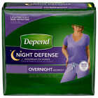 DEPEND OVERNIGHT for Women Comfort Sizes: S/M, L, XL **FAST SHIPPING**