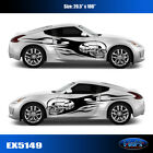 5149 Flaming Skull Vinyl Graphics Decals CAR TRUCK Sticker High Quality EgraF-X