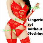 Lace-Sexy-Lingerie Set-Sleepwear-Women-Stocking-Panties-Body-Babydoll-Nightwear