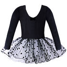Cotton Training Little Girls Dress Stage Skating Ballet Tutus Dance Costume 3-8Y