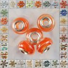 M155-184 14x10 Wholesale Lampwork Glass 925 Silver Bead Finding
